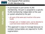 port based port centric vlan membership
