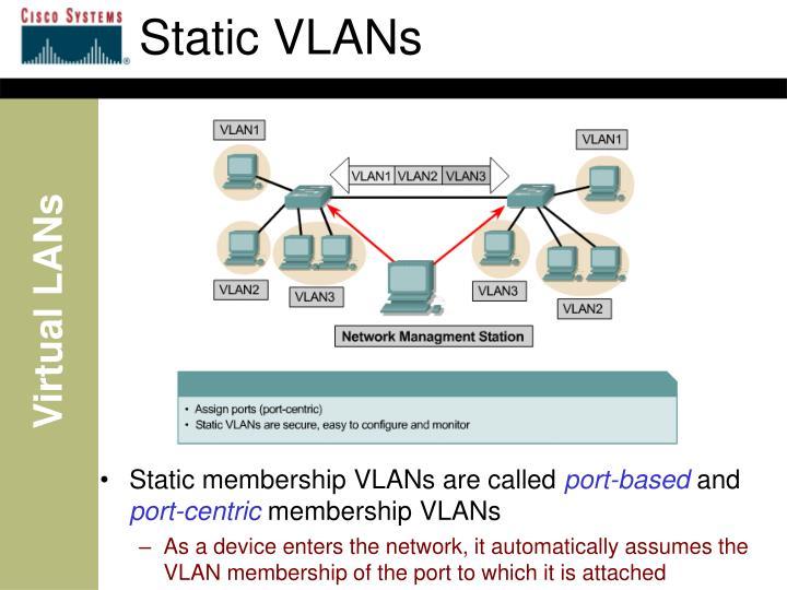 Static VLANs