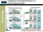 traditional lan segmentation vs vlan segmentation