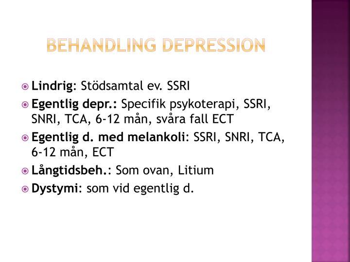 Behandling depression