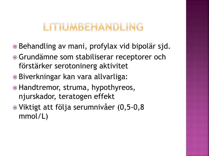 Litiumbehandling