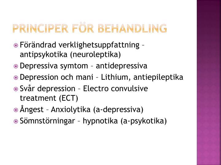 Principer för behandling