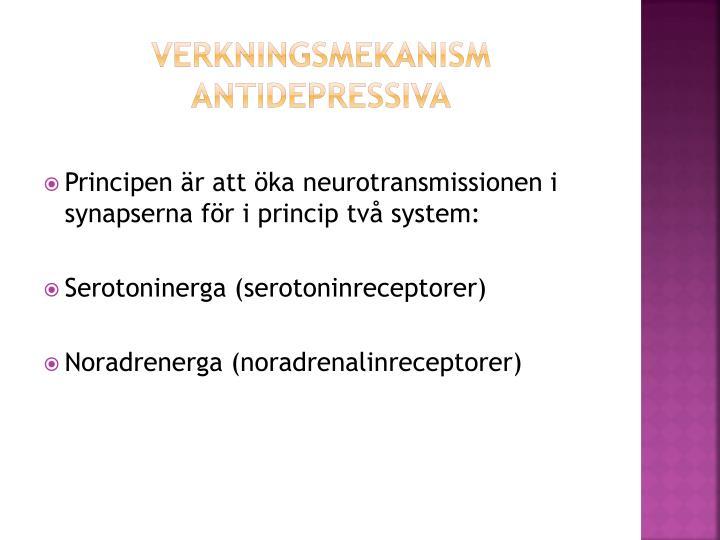 Verkningsmekanism antidepressiva