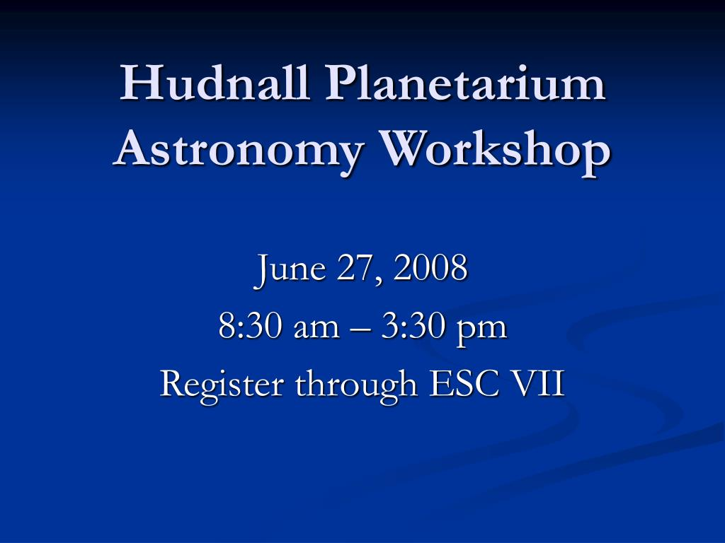 Hudnall Planetarium