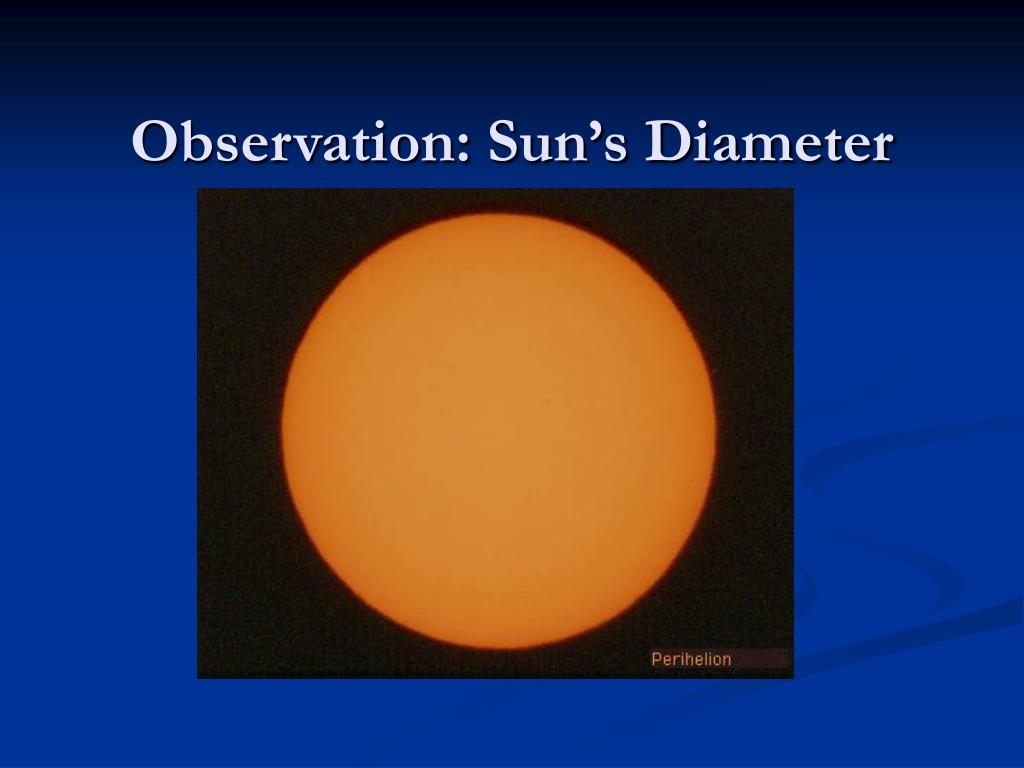 Observation: Sun's Diameter