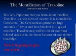the montillation of traxoline attributed to judy lanier