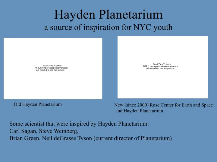 Hayden planetarium a source of inspiration for nyc youth