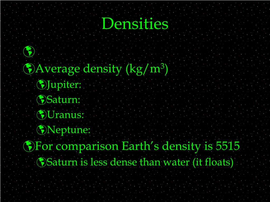 Densities