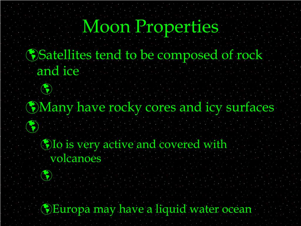 Moon Properties