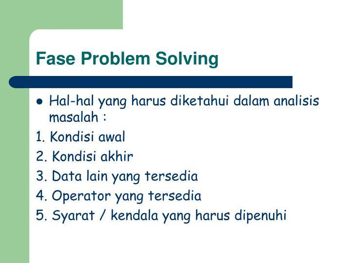 Fase Problem Solving