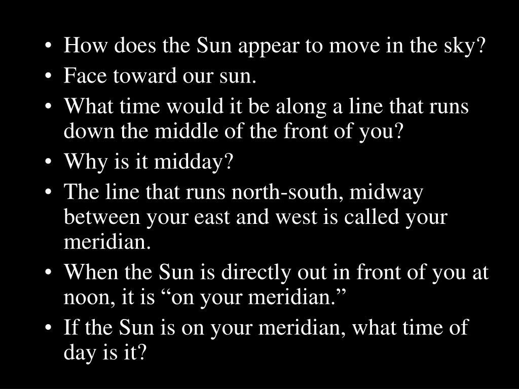 How does the Sun appear to move in the sky?