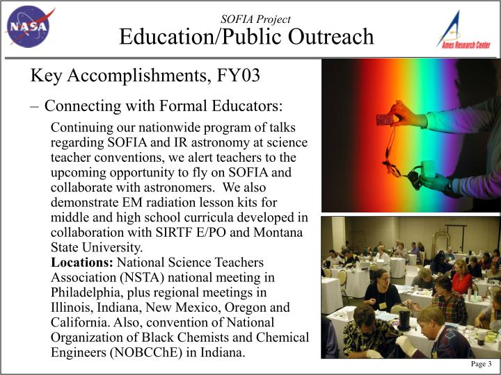 Education public outreach