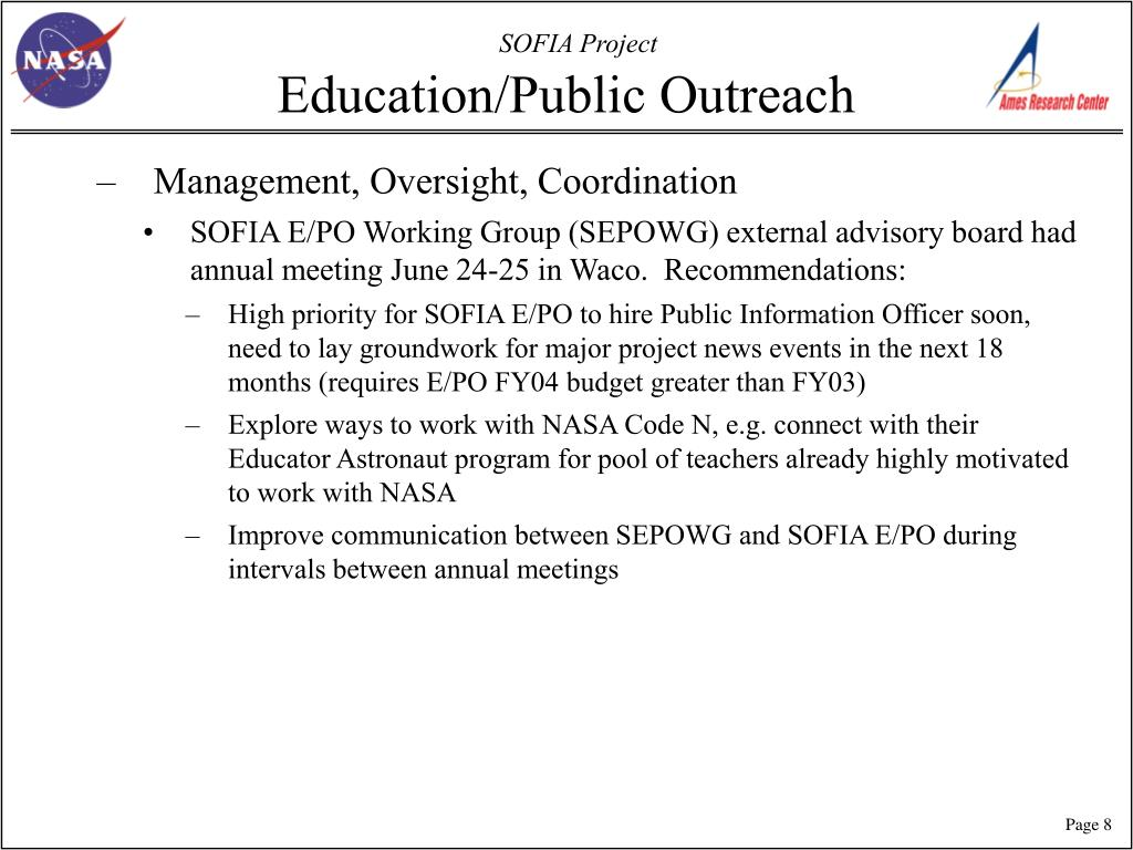 Education/Public Outreach