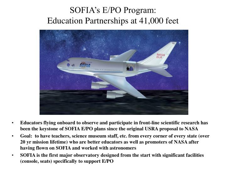 Sofia s e po program education partnerships at 41 000 feet l.jpg