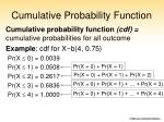 cumulative probability function