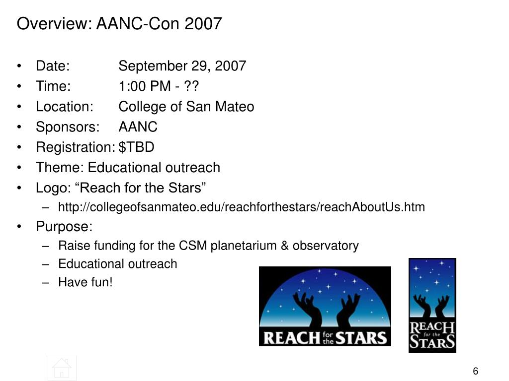Overview: AANC-Con 2007