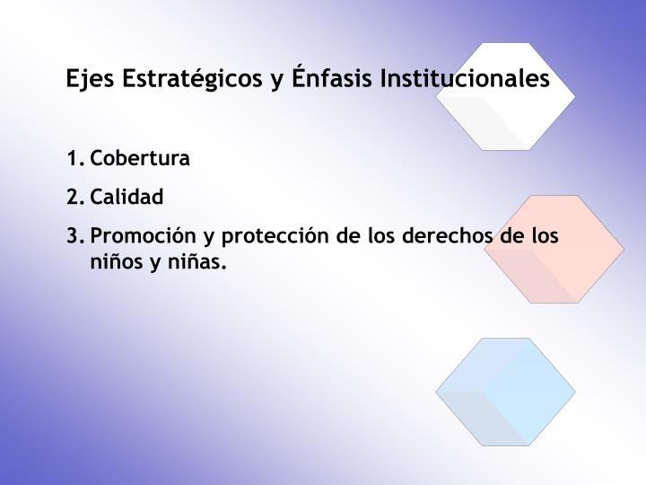 Ejes Estratégicos y Énfasis Institucionales
