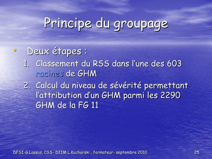 Principe du groupage