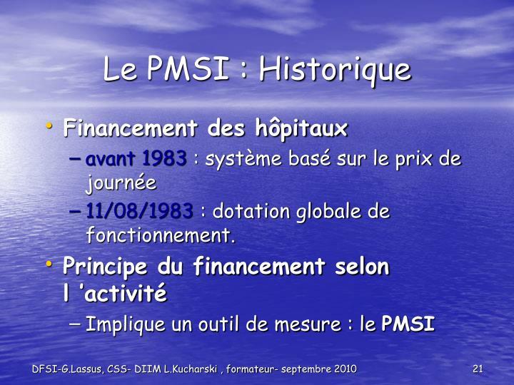 Le PMSI : Historique