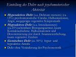 einteilung des delirs nach psychomotorischer aktivit t