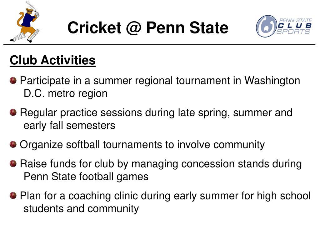 Cricket @ Penn State