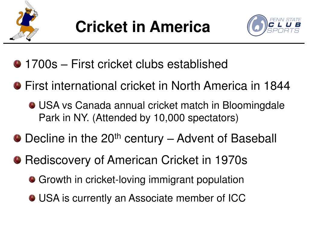 Cricket in America