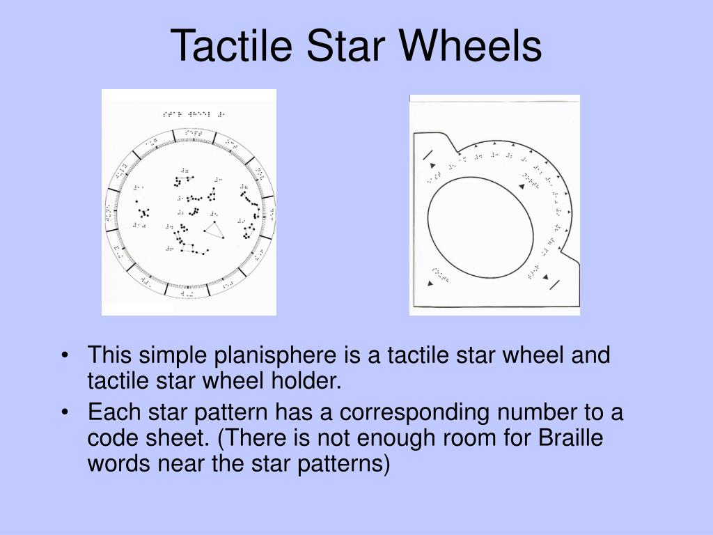 Tactile Star Wheels