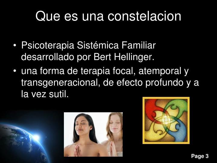 Psicoterapia Sistémica Familiar desarrollado por Bert Hellinger.