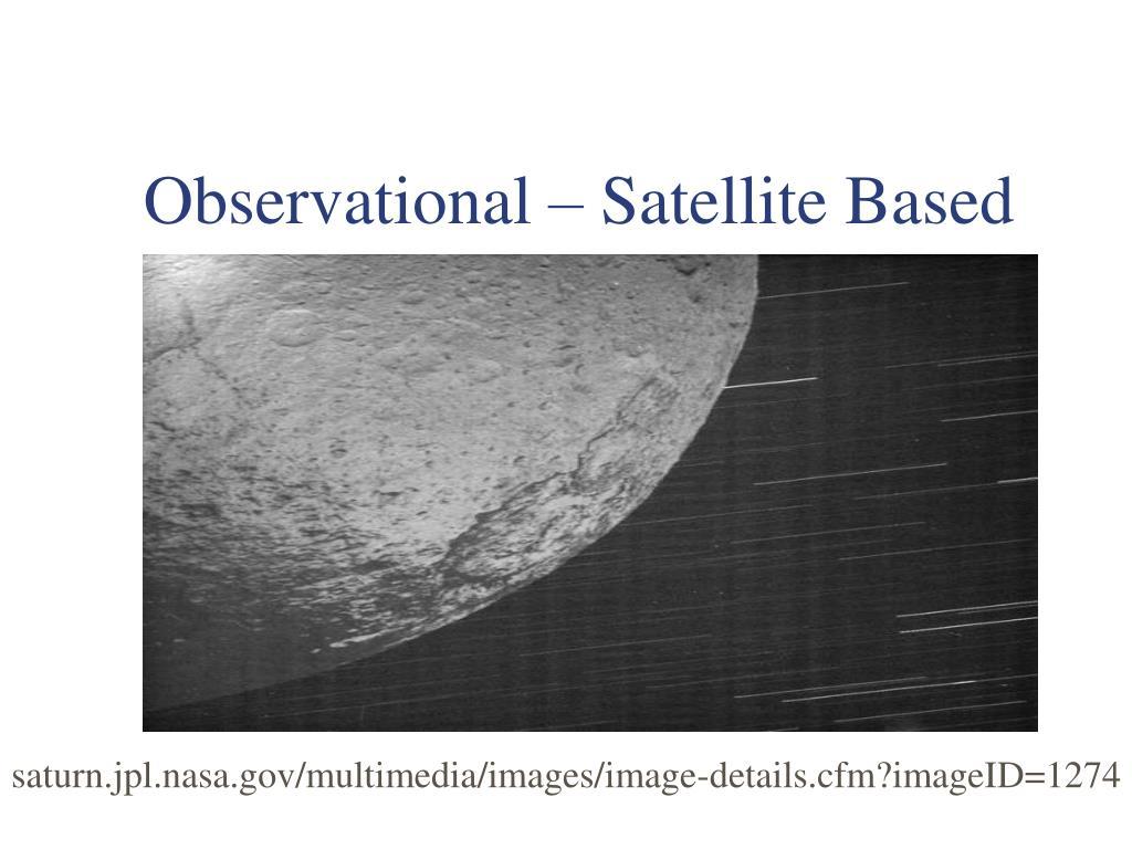 Observational – Satellite Based