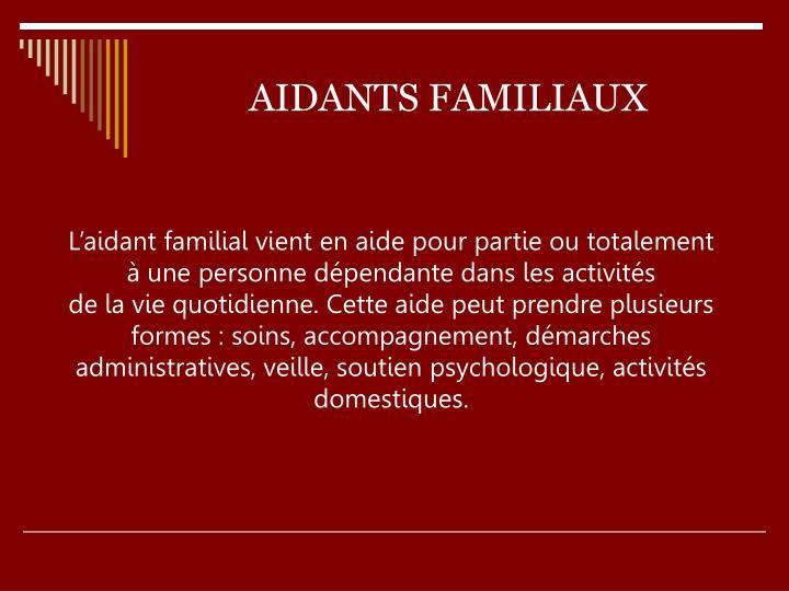 AIDANTS FAMILIAUX