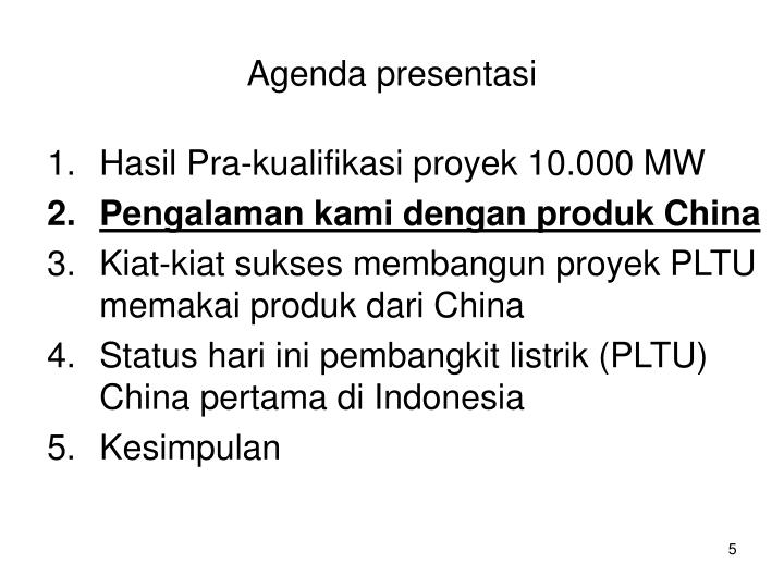 Hasil Pra-kualifikasi proyek 10.000 MW