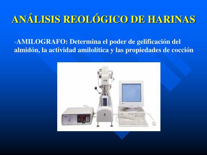 ANÁLISIS REOLÓGICO DE HARINAS