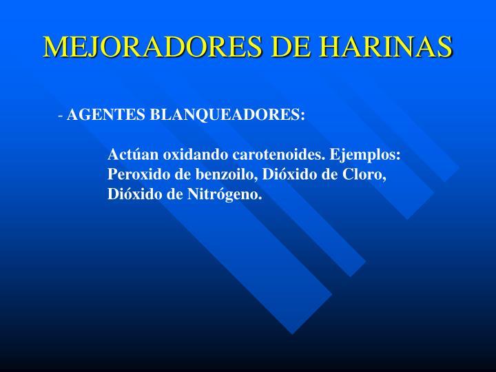 MEJORADORES DE HARINAS