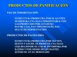 productos de panificaci n