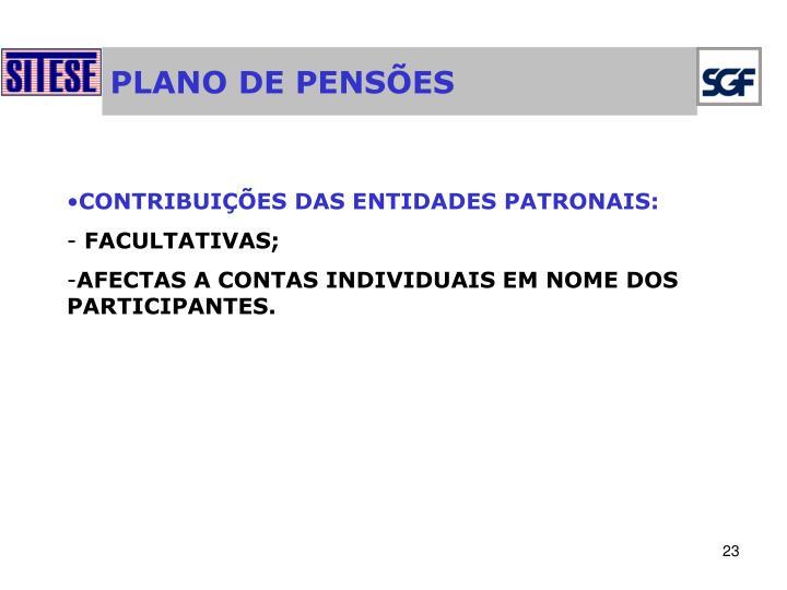 PLANO DE PENSÕES