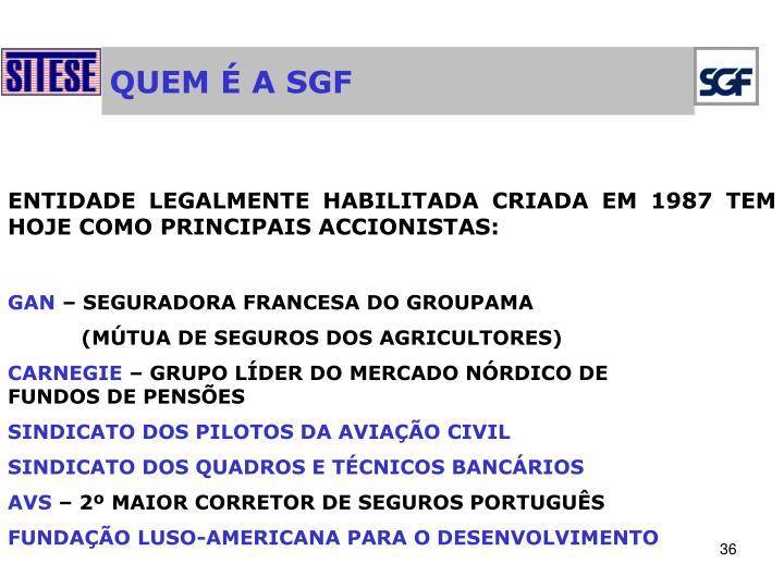 QUEM É A SGF