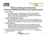 business management reporting suntrust s my merchant view online reports include