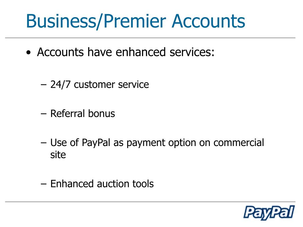 Business/Premier Accounts