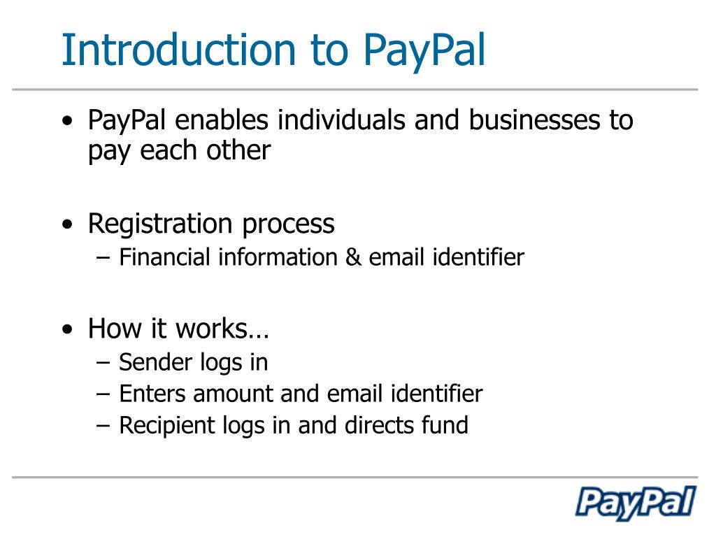 Introduction to PayPal