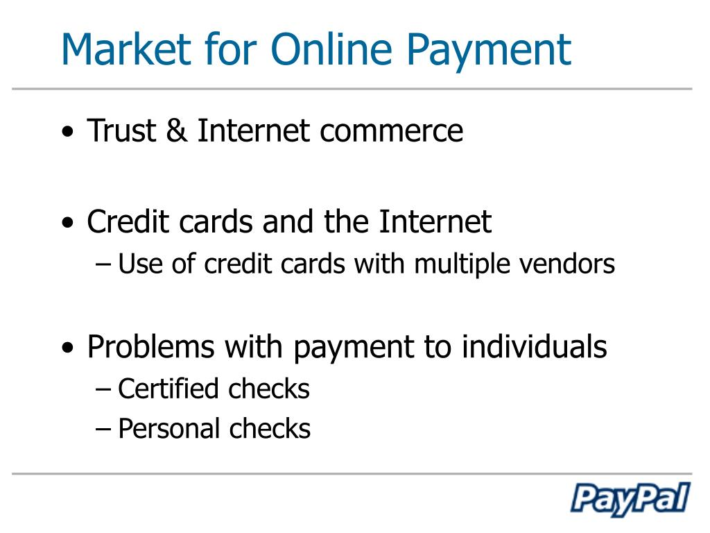 Market for Online Payment