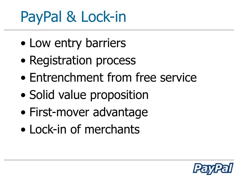 PayPal & Lock-in