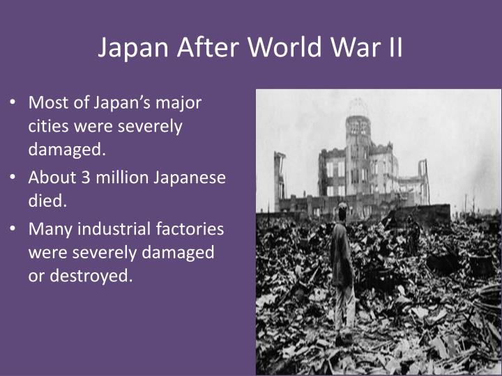 japan economy after world war 2 Reinterpreting the japanese economic miracle  worst recession since world war ii japan's political  up after a ruinous war, its economy was small.