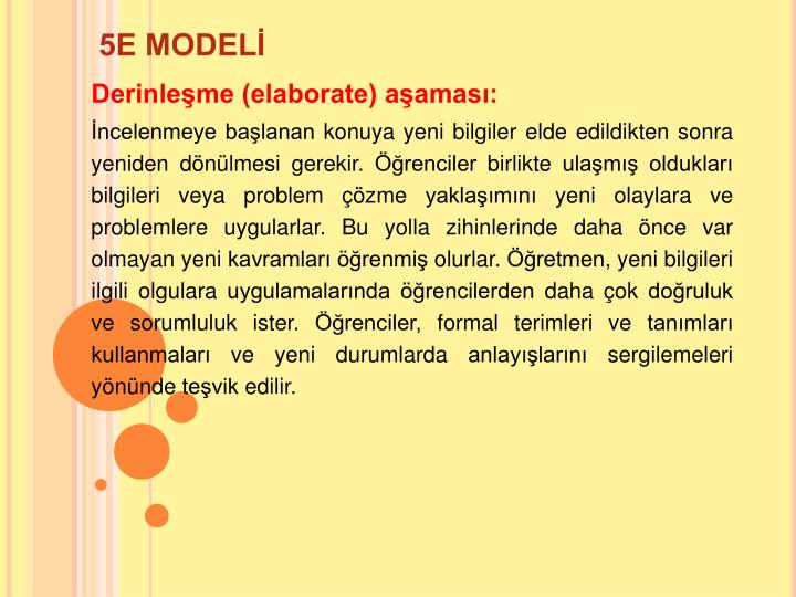 5E MODEL