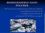 biodegradeble nano polymer
