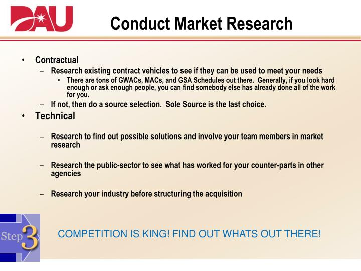 Conduct Market Research
