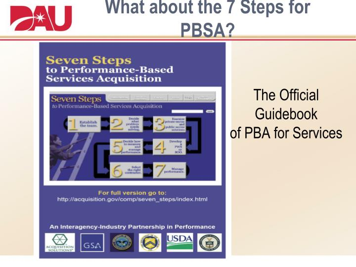 What about the 7 Steps for PBSA?