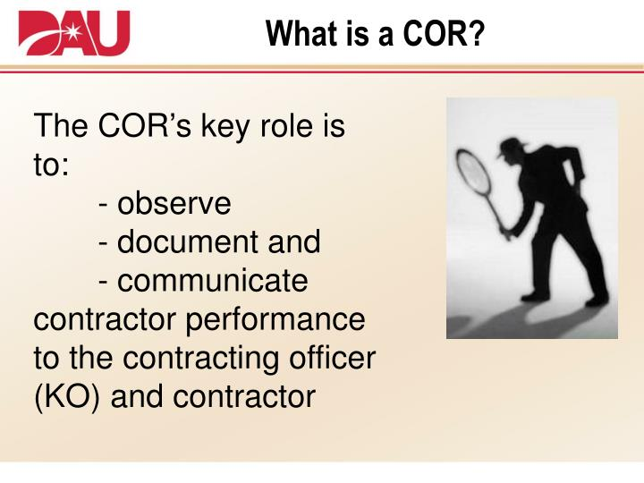 What is a cor