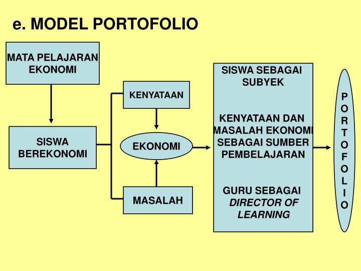 e. MODEL PORTOFOLIO