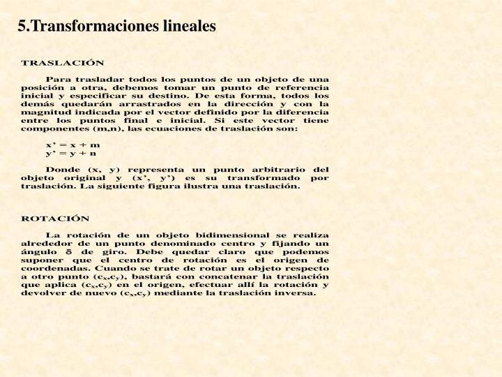 5.Transformaciones lineales
