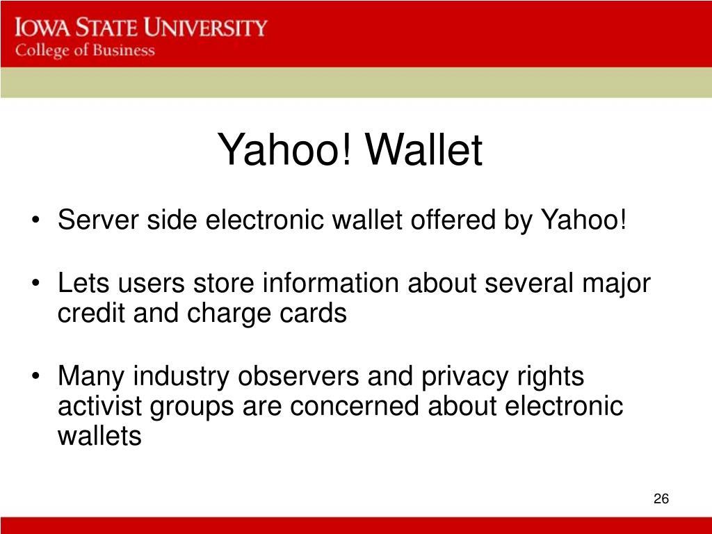 Yahoo! Wallet